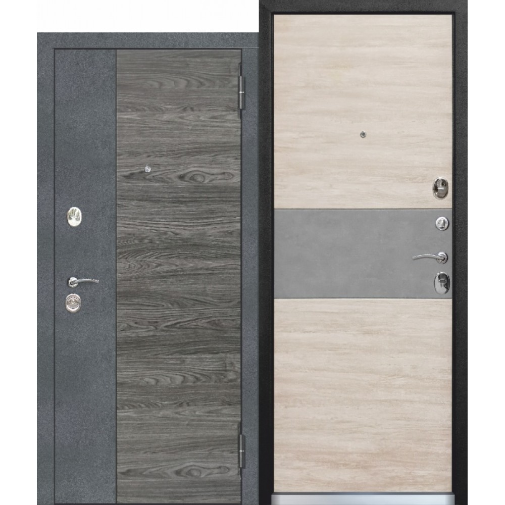 Входная дверь 9,5 см Орландо Дуб винтаж белый с МДФ панелями. Доставка до 4 -х дней.