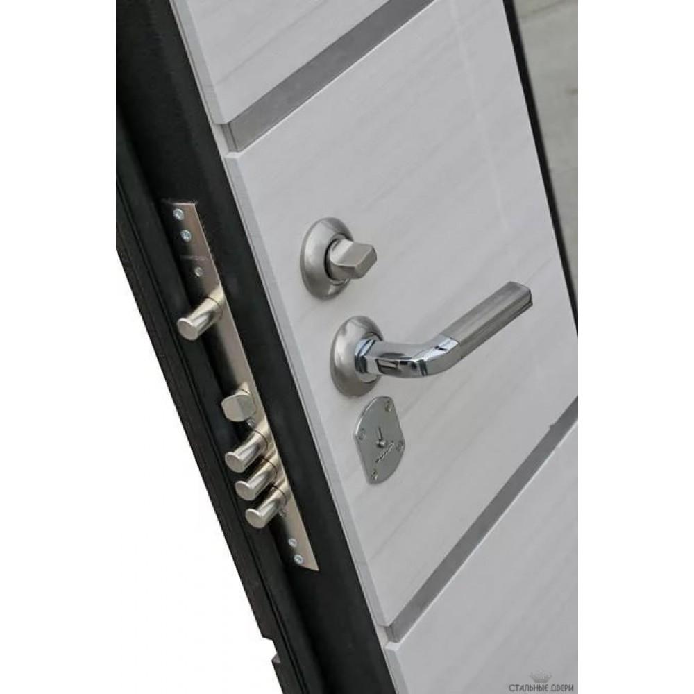Входная металлическая дверь 9,5 см Европа Белый Ясень