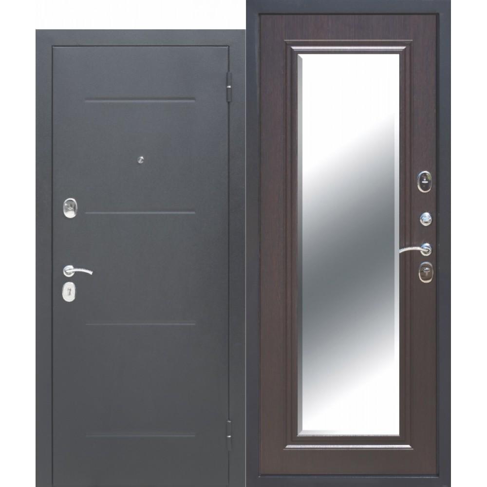 Входная металлическая дверь 7,5 см GARDA Серебро Зеркало Фацет ВЕНГЕ. Доставка до 4 -х дней.