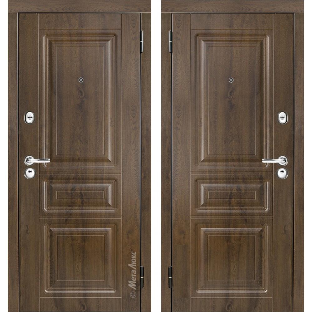 Входная металлическая дверь М 49/2 золотой дуб